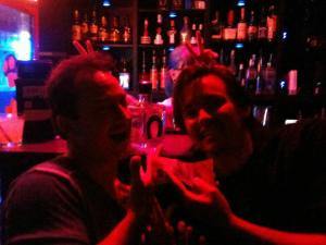 Chris and me pimpin' bottles and change